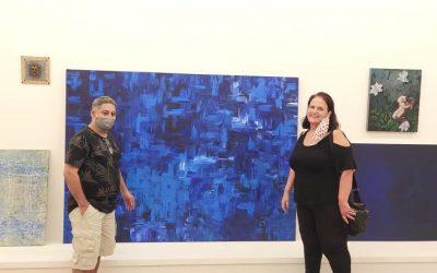 Julio Rodrigues artista do Coletivo BBARTE e esposa Marcia