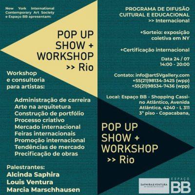 Workshop Saphira Ventura Gallery Espaço BB Artes Visuais Cassino Atlântico