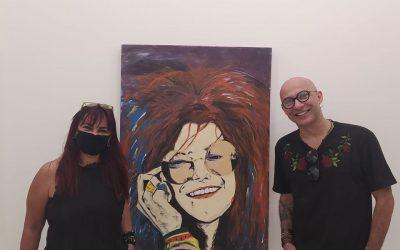 artista Marcelo Toffoli no Coletivo BBARTE Ipanema e Sonia Magalhaes