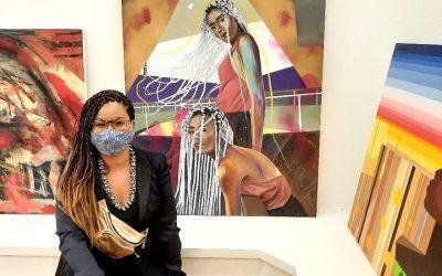 Artista do Coletivo BBARTE Magda Rehder Letícia Mercier