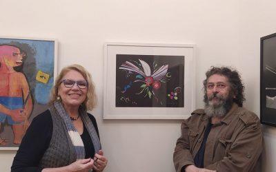 Artista do Coletivo BBARTE Mariangela Guadagnin e Ferreth